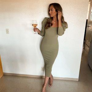 Zara bodycon dress midaxi